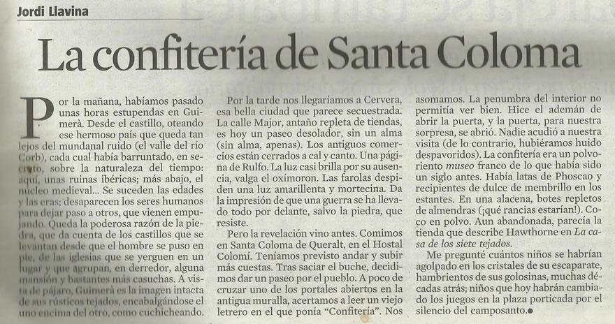 La Vanguardia   Gener 2011